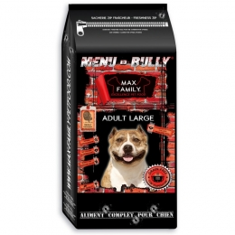 Menu BULLY Adulte Large - by MAX FAMILY - Croquette sans céréale pour chien adulte de grande race