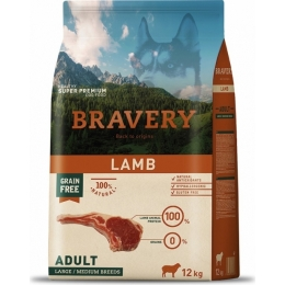 BRAVERY Adult Medium & Large Sans Céréales Agneau 12kg