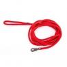 Longe pour chien, en nylon: rond uni rouge L. 5 m